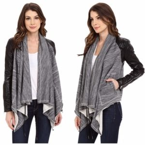 BLANKNYC Dating & Waiting Drape Front Jacket
